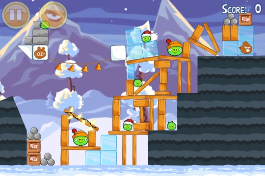 Angry birds seasons sp cial calendrier de l avent pour - Angry birds noel ...