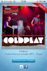 iTunes ColdPlay