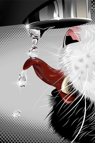 3D-Wallpaper-Cat-Vector