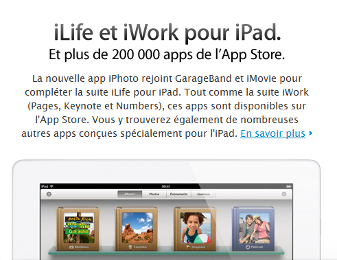 Apple - Le nouvel iPad - iLife iWork