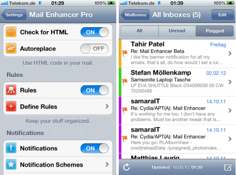 Mail Enhancer Pro-pour iPhone