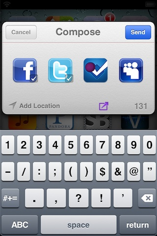 Fusion Facebook pour iphone