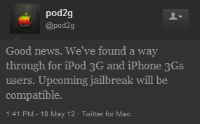 Pod2g trouve le jailbreak untethered pour iPhone 3GS iOS 5.1.1
