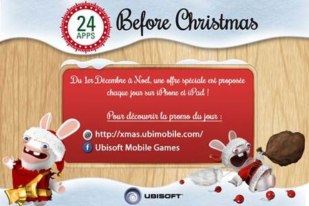 ubisoft propose son calendrier de l avent info idevice. Black Bedroom Furniture Sets. Home Design Ideas