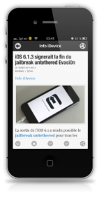Newsify RSS Reader - Info iDevice 3