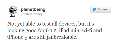 iOS 6.1.2 jailbreakable