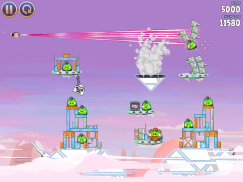 Angry Birds Star Wars Cloud City pour iphone et ipad