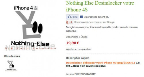 Nothing Else version Furious Rabbit 19,90€