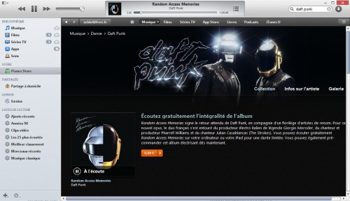 Random Access Memory - Daft Punk en streaming gratuit sur iTunes