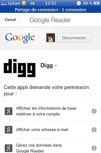 Digg-flux RSS- Info iDevice