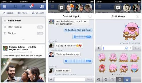 Facebook iphone version 6.2