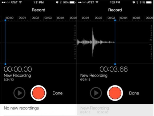 memos vocaux iOS 7 beta 2
