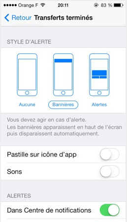 Transferts iOS 7 beta 4 - Info iDevice