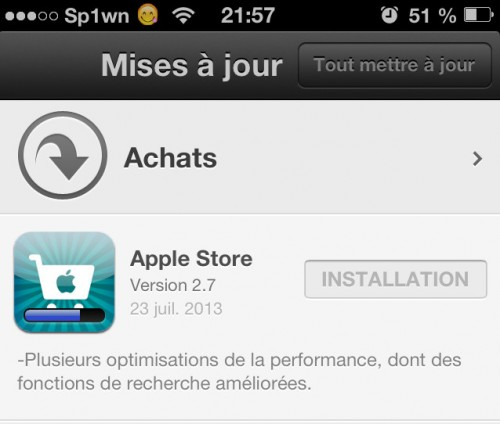 application Apple Store 2.7- Info iDevice