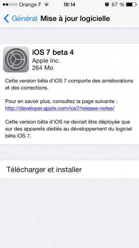 iOS 7 beta 4 - Info iDevice