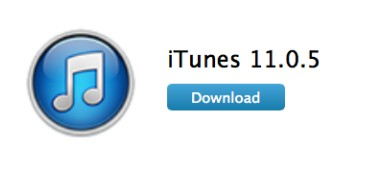 iTunes 11.0.5 - Info iDevice