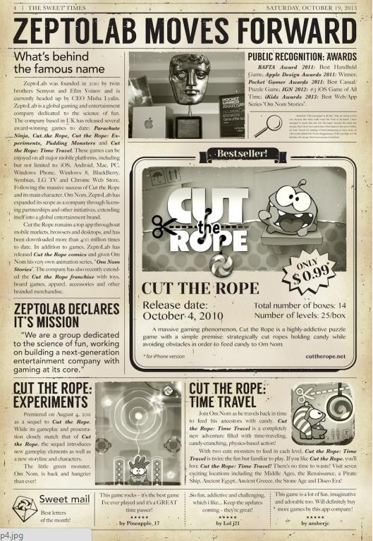 Cut The Rope 2-ou est Om Nom-Info iDevice 4