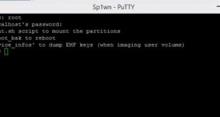 acces SSH avec Putty-Info iDevice