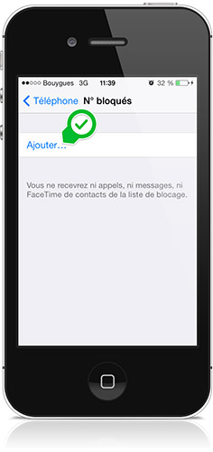 ajouter des contacts a blacklister-Info iDevice