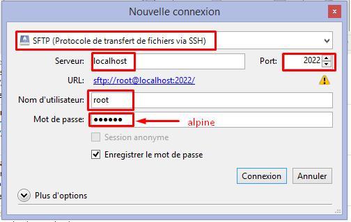 Cyberduck connexion SSH
