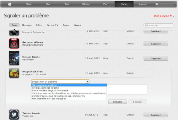 remboursement applications Apple App Store - Info iDevice