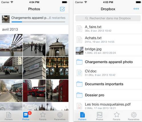 DropBox version 3.0 pour IOS 7-Info iDevice