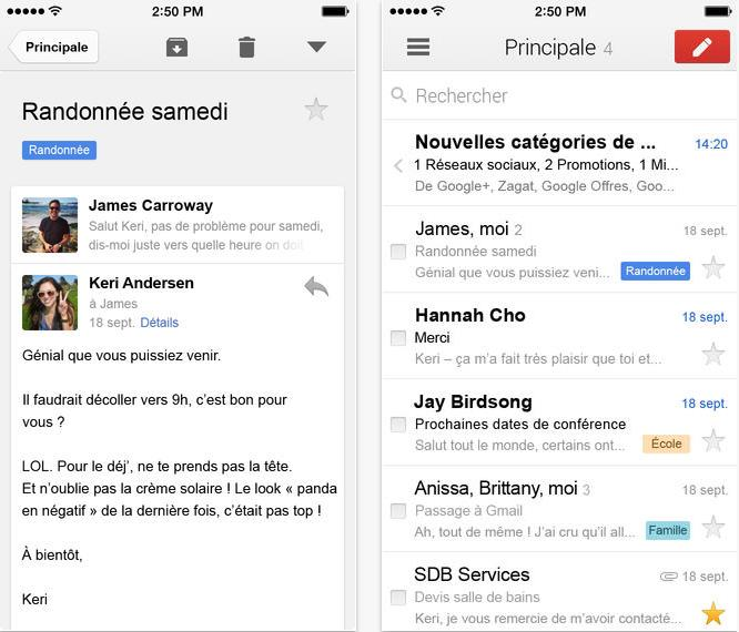 Gmail version 2.7182-Info iDevice