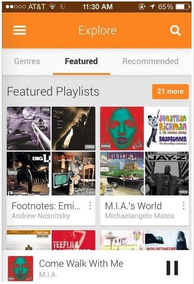 Google Play Music pour iPhone et iPad-Info iDevice
