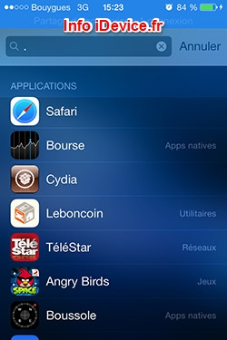 recherche applications Spotlight iOS 7-Info iDevice