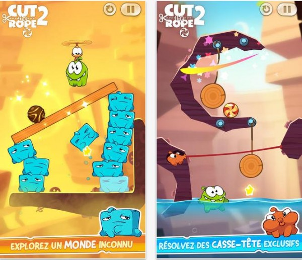 Cut the rope 2 App Store-Info iDevice