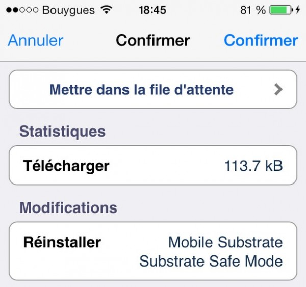 réinstaller Mobile Substrate et Substrate Safe Mode-Info IDevice