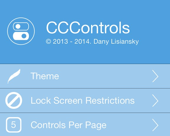 CCControls personnaliser le centre de controle iphone-Info iDevice