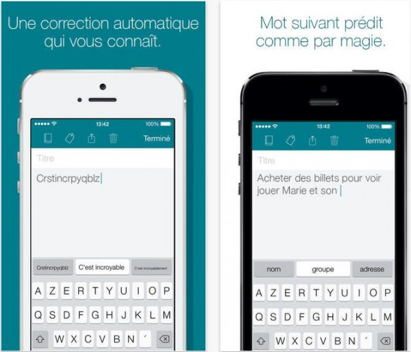 image illustrant l'utilisation du clavier SwiftKey sur iPhone