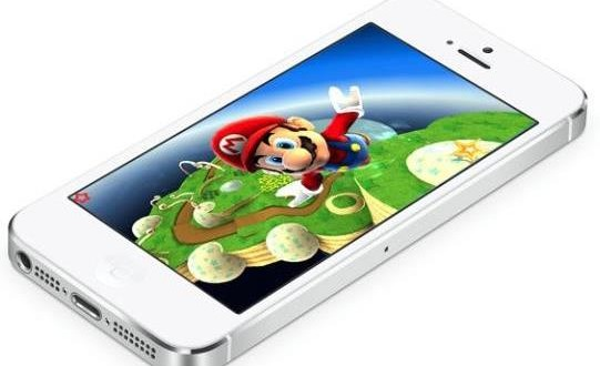 image illustrant le jeux super Mario de Nintendo sur un iphone Apple