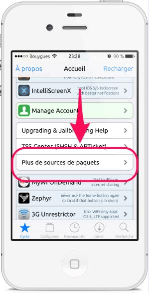 plus de sources cydia -Info iDevice