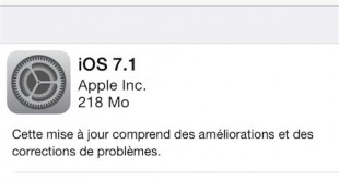 Apple libère iOS 7.1