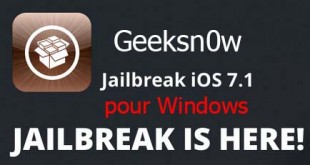 Jailbreak iOS 7.1 pour Windows