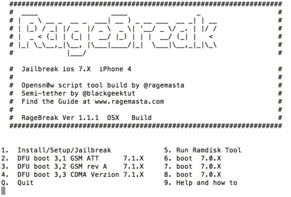 Jailbreak iOS 7.1.1 RageBreak