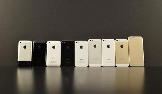 tous les iphone r unis avec l 39 iphone 6 pour comparaison vid o. Black Bedroom Furniture Sets. Home Design Ideas