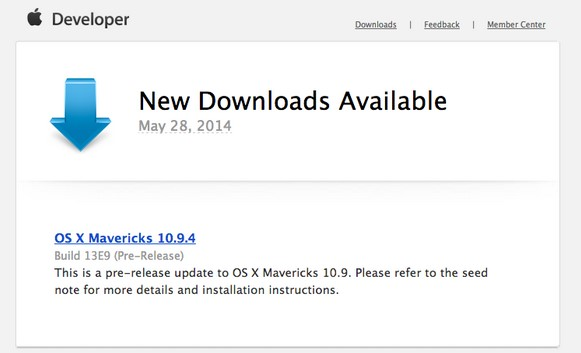 download Mac OS X Mavericks 10.9.4