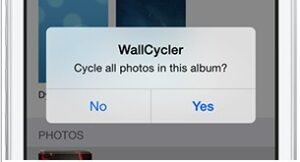 option wallcycler sur iphone ios 7-infoidevice