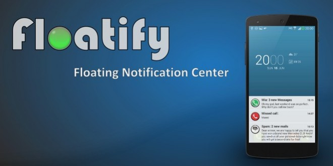 floatify notification center Android L kitkat