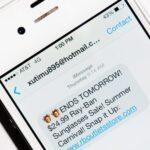 spam sur imessage iphone