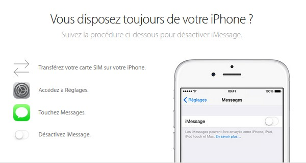 desactiver imessage sur iphone