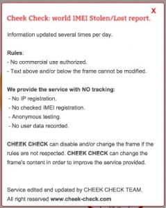 cheek check checkmend gratuit
