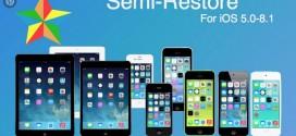 SemiRestore iOS 8 et iOS 8.1 est disponible
