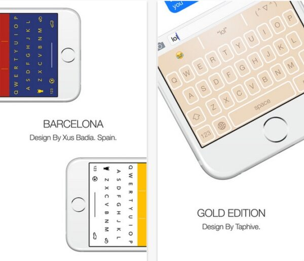 themeboard themes colorés pour clavier iphone