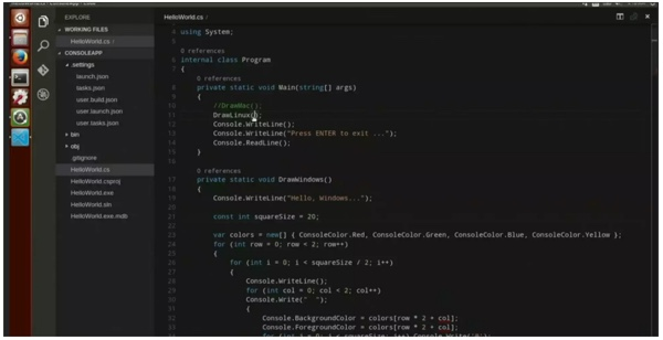 visual studio code linux-infoidevice