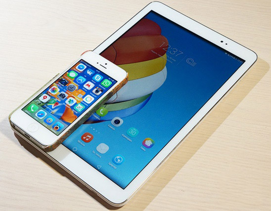mediapad t1 avec iphone 5-infoidevice
