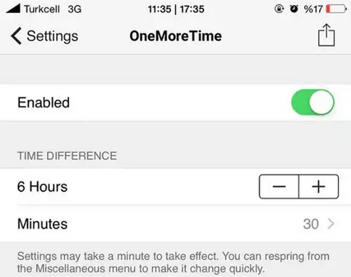 tweak onemoretime cydia-infoidevice